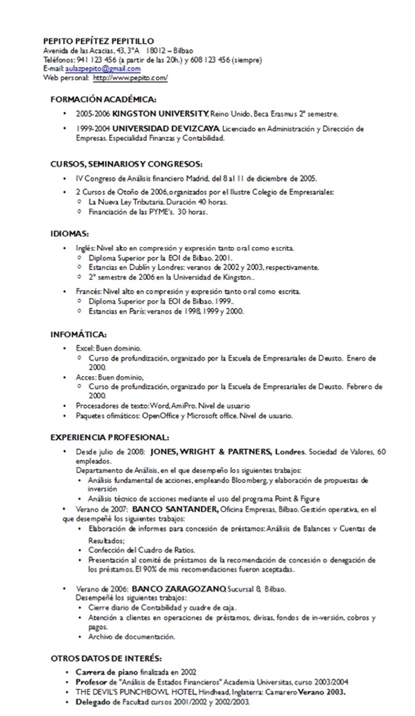 Redaccion De Curriculum Vitae Ejemplo. Easyjob Resume Templates Dont ...